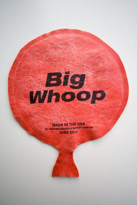 "Big Whoop, 10.375"" x 8.375"", felt, thread & iron-on transfer"